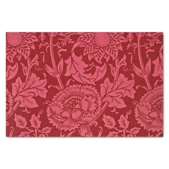 Raspberry pink and rose floral design. tissue paper