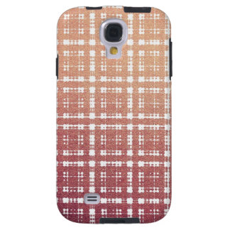 Raspberry Pink Blush Modern Plaid Netted Ombra 4 Galaxy S4 Case