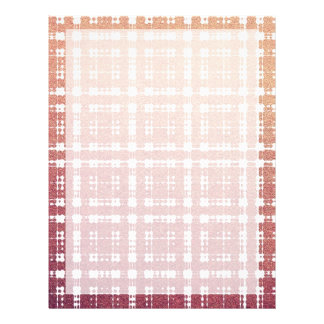 Raspberry Pink Blush Modern Plaid Netted Ombra 21.5 Cm X 28 Cm Flyer