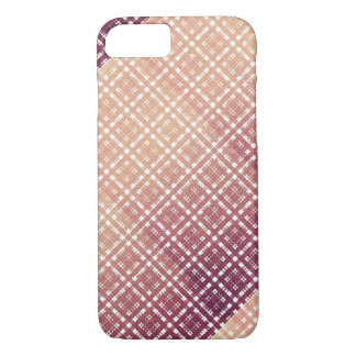 Raspberry Pink Blush Modern Plaid Netted Ombra iPhone 7 Case