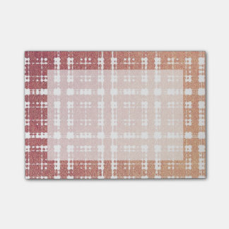 Raspberry Pink Blush Modern Plaid Netted Ombra Post-it® Notes