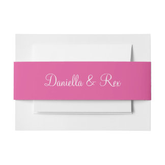 Raspberry Pink Exclusive Colorful Invitation Belly Band
