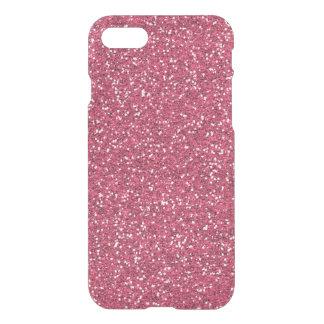 Raspberry Pink Glitter Effect iPhone 8/7 Case