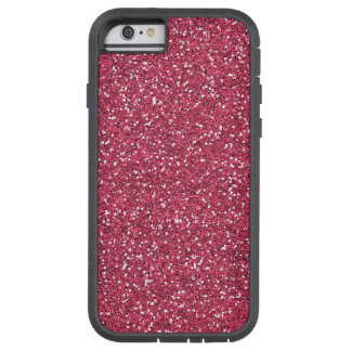 Raspberry Pink Glitter Effect Tough Xtreme iPhone 6 Case