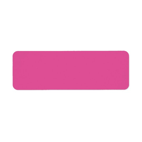 Raspberry Pink High Quality Colour Coordinating Return Address Label