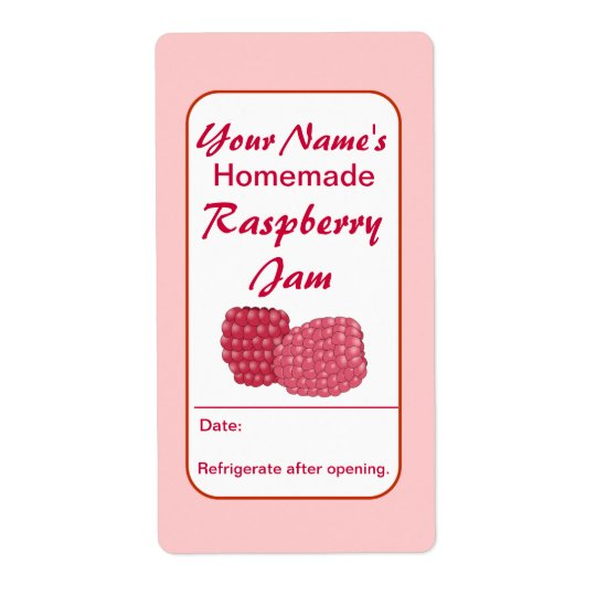 Raspberry Preserves Custom Jam Jar Labels