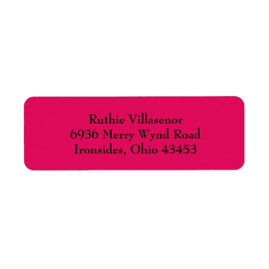 Raspberry Red Simple Plain Return Address Labels