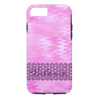 Raspberry Ripple Effect Pink Abstract Custom iPhone 7 Case