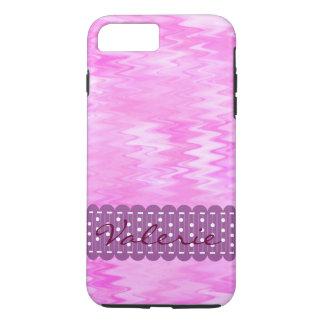 Raspberry Ripple Effect Pink Abstract Custom iPhone 8 Plus/7 Plus Case