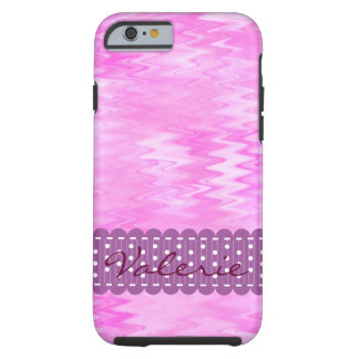 Raspberry Ripple Effect Pink Abstract Custom Tough iPhone 6 Case