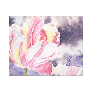 Raspberry Ripple Original Watercolour Design Canvas Print