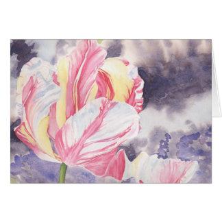 Raspberry Ripple Original Watercolour Painting Greeting Card