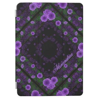 Raspberry Roses & Paisley Bandana Name Template iPad Air Cover