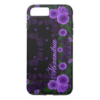 Raspberry Roses & Paisley Bandana Name Template iPhone 8 Plus/7 Plus Case