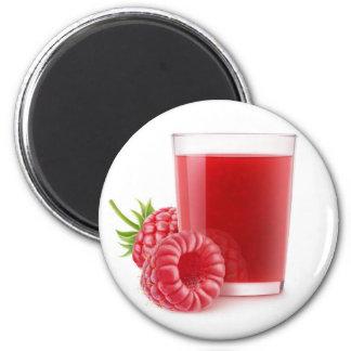 Raspberry smoothie 6 cm round magnet