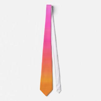 Raspberry Sunset Gradient - Pink Yellow Orange Tie