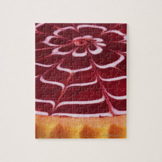 Raspberry tart jigsaw puzzle