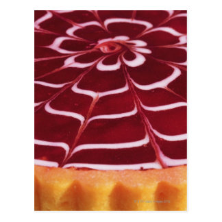 Raspberry tart postcard