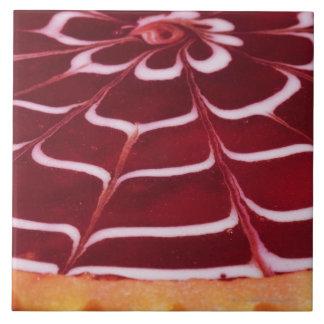 Raspberry tart tile