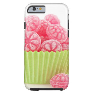 Raspberry tasty candy sweets in green cup cake tough iPhone 6 case