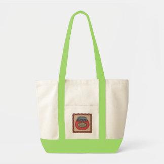 Raspberry Impulse Tote Bag