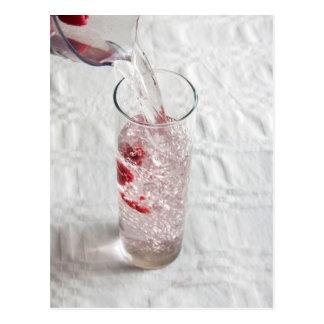 Raspberry Water 3 Postcard