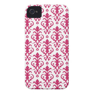 Raspberry Wine Damask iPhone 4/4S Case