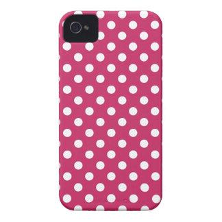 Raspberry Wine Red Polka Dot Iphone 4/4S Case