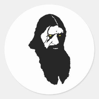 Rasputin--Black Round Sticker