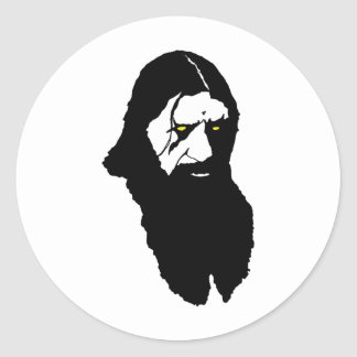 Rasputin--Black Round Stickers