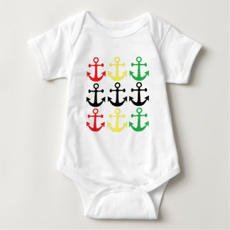 Rasta Anchors Baby Bodysuit