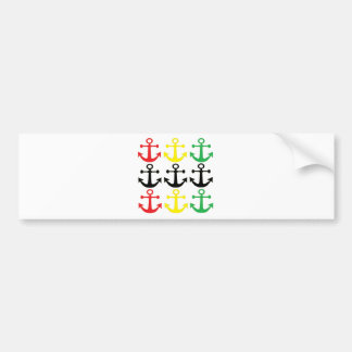 Rasta Anchors Bumper Sticker