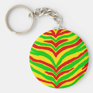 Rasta Animal Stripes Keychain