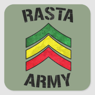 Rasta army square sticker