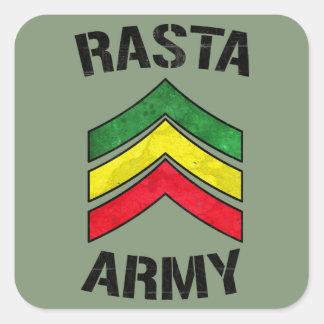 Rasta army square sticker