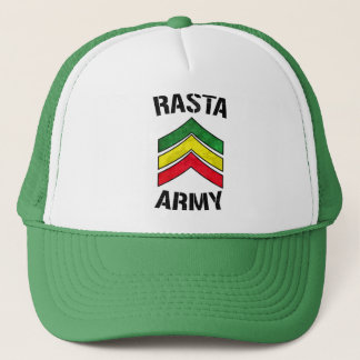 Rasta army trucker hat