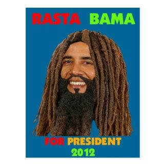 Rasta Bama, President Obama in Dreadlocks Postcard