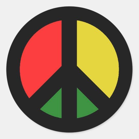 Rasta Ban the Bomb CND Peace Symbol Classic