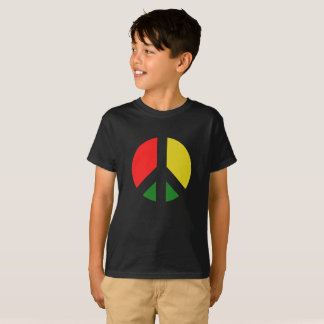 Rasta Ban the Bomb CND Peace Symbol T-Shirt