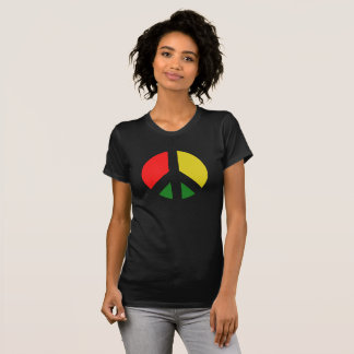 Rasta Ban the Bomb CND Peace Symbol T-Shirt