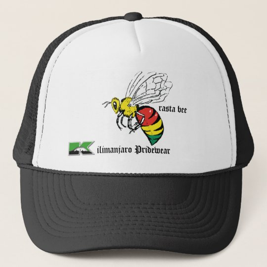 rasta bee trackers hat