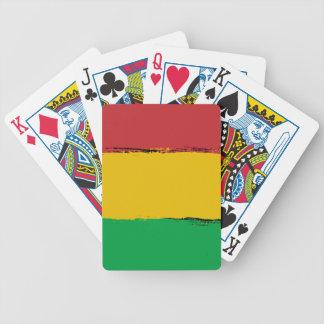 Rasta Bicycle Playing Cards