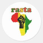 Rasta Black Power Fist over Africa