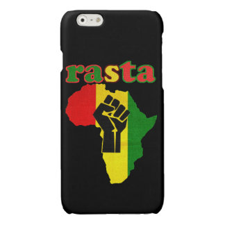 Rasta Black Power Fist over Africa iPhone 6 Plus Case