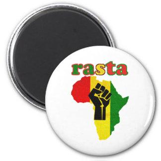 Rasta Black Power Fist over Africa Magnet