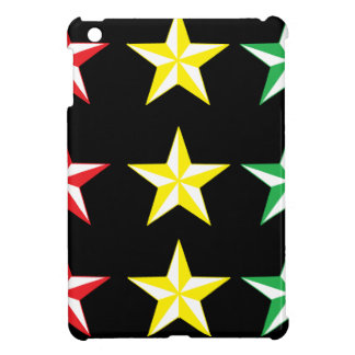 Rasta & Black Stars iPad Mini Cases