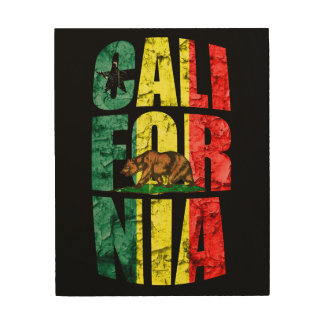 Rasta California Wood Print