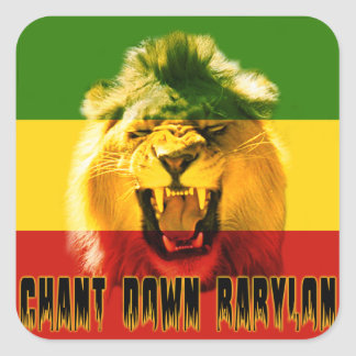 Rasta Chant Down Babylon Lion Sticker
