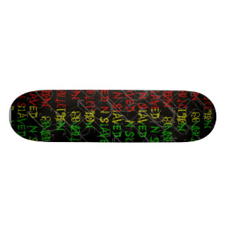 rasta color graffiti  deck skate board deck