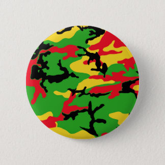 Rasta Colored Camouflage 6 Cm Round Badge
